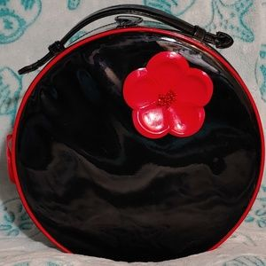 Black and Red vinal hat box.